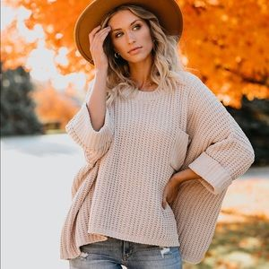 Cloudy Day Knit Sweater Vici